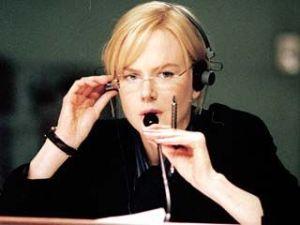 "Nicole Kidman in ""The Interpreter"" performing simultaneous interpreting Image credit www.rottentomatoes.com"